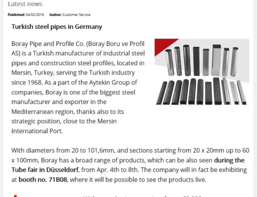 Türk Çelik Boruları Almanya'da